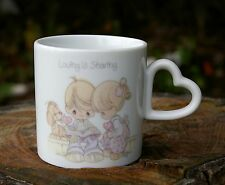 Loving is Sharing Precious Moments 1987 Coffee Mug Samuel J. Butcher Enesco
