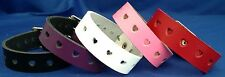 Leather Bracelet Heart Holes Choice of Colour Hand Made Real Leather Goth Punk