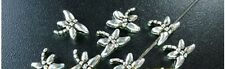 250 Pcs Tibetan Silver tiny dragonfly spacer beads FC3