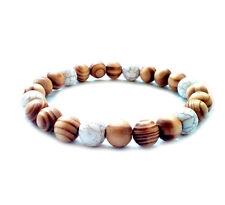 men's bracelet beaded shamballa stretch surfer wristband mala beads gift for him