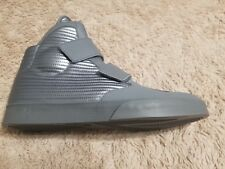 New Nike Shoes Size 11.5 Gray MSRP $120 Silver Velcro Flysteppers 2K3 With Box