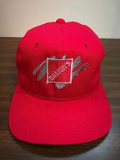 Vintage Damon's Grill Restaurant Snapback Hat Trucker Dining Red Cap Un Worn VGC