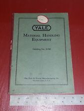 YALE & Towne  Material Handling Euipment Catalog No 21 M Book Antique 1920's ?