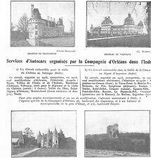 SERVICE D' AUTOCARS PAR LA CIE D' ORLEANS DANS L' INDRE 1926