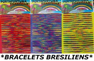 * LOT 100 OU 200 BRACELET BRESILIEN TRESSE AMITIE REVENDEUR GROSSITE - FIL 1 mm