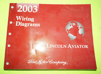 2003 Ford Lincoln Aviator OEM EVTM Factory Wiring Diagrams Service Manual Book