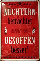 Blechschild Schild gewölbt Metal Tin Sign 20 x 30 cm Meine Küche mein Revier
