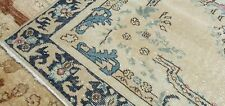 """Rare Antique Cr1900-1939s Muted Natural Dye Wool Pile Oushak Area Rug 4'x6'8"""""""