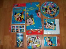8pc Lot Party Express Mickey & Friends Birthday Bash Party Goods Multi-color NOS