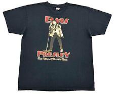 Vintage Elvis Presley The King Of Rock N Roll Tee Black Size XL Mens T Shirt