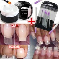 10pcs Nail Extension Fiber Fibernails Acrylic Tips Fiberglass w/ Building Gel