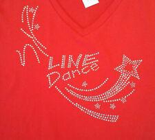 Line Dance HOTFIX Bügelbild Strass-Steine Applikation,Shirt,glitzer 25x24 cm TOP