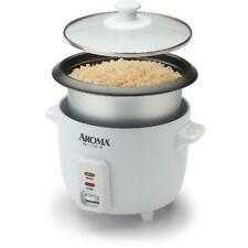 Non Stick Pot Style Electric Aroma Rice Cooker Automatic 6 Cup Removable White