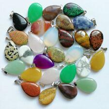Wholesale fashion water drop pendant Charms natural mixed stone pendants 50pcs