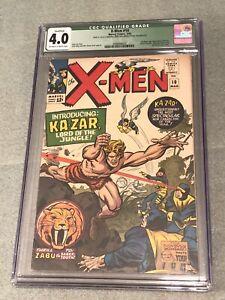 Silver Age Xmen #10 1965 CGC 4.0 Huge Key 1st Apperance Ka-Zar Savage Land Zabu