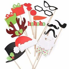 Photo booth prop ebay 17pcs christmas photo booth props photography santa photobooth party prop diy solutioingenieria Images