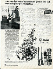 1974 Print Ad of Savage Model 64-S & 1407 Rifle