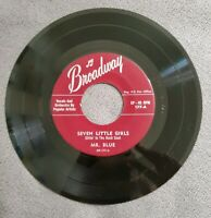 Broadway 45 Rpm Lonely Street Mr. Blue Popular Artists Vocals & Orchestra