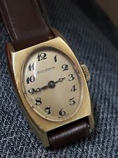 rare vintage jaeger lecoultre ladies watch gold 18k