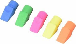 Swordfish Pencil Top Erasers Bright Neon Colours Smudge Free Rubbers - Pack 25