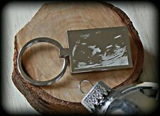Personalised Photo baby scan Engraved Rectangle Key ring -Great xmas gift