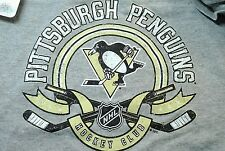 Pittsburgh Penguins Youth Gray Unisex T shirt  Washed Tags