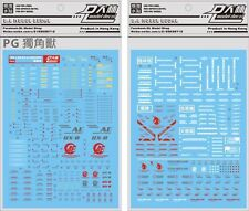 Conversion Detail Up Decals For Pg 1/60 Unicorn Rx-0 Gundam