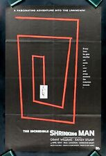 THE INCREDIBLE SHRINKING MAN * RARE ADVANCE MOVIE POSTER CineMasterpieces 1957