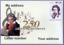 Kazakhstan 2020.  A letter to Your address. Ludwig van Beethoven. Composer.