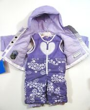 Columbia Snowsuit BABY Infant 6 month Jacket Bibs Purple Print NWT