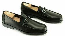 New Salvatore Ferragamo Grabdioso Men's Black Dress Loafers Vibram Soles 12 D