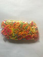 600 bandas de goma coloridas conjunto amistad de toma de pulsera Kit de Hágalo usted mismo