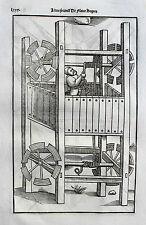 Vegetius végèce de l 'art militaire GUERRA ARTE re militari ORIGINALE 1535 venti