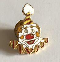 Circus Clown Lapel pin Enameled Pinback Badge Clown Face Brooch A104