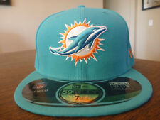 MIAMI DOLPHINS NEW ERA 59FIFTY 2012 CLASSICS ON FIELD AQUA FITTED HAT SIZE 7 1/4