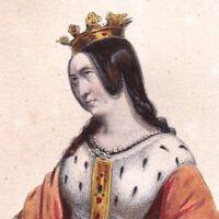 Marguerite d'Anjou Reine Henri VI d'Angleterre Queen's Collège de Cambridge 1841