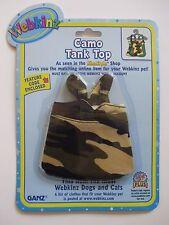 "xbx camo tank top WEBKINZ PET CLOTHING 8"" dog cat monkey horse etc new code"
