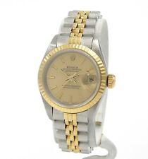 ROLEX DATEJUST 6917 26MM STAINLESS & 18K LADIES WRIST WATCH W/ BOX PAPERS- 8978