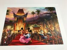 Thomas Kinkade Mickey & Minnie in Hollywood Signed & Numbered Lithograph 18x 24