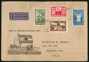 MayfairStamps Hungary 1951 Farming & Industry Agriculture First Day Cover wwo312