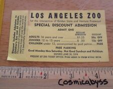 1974 Los Angeles Zoo card discount CA