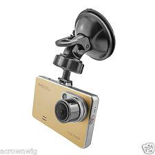 "Full HD 1080P Car Digital Video Recorder Camera DVR 2.7"" Screen Night LED Gold"