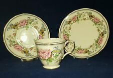 Crown Staffordshire Chelsea Manor Trio Cup Saucer and Side Plate