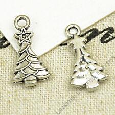 20pc Christmas tree Small Pendants Charm Beads Accessories Jewellery Making V752