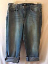 NWT -Nine West Taylor Cuffed Capri Jeans - Size 10