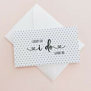 Be My Bridesmaid Proposal Cards - Pack of 6 - Black White Polka Dot MW45889