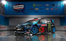 "FORD FIESTA MONSTER KEN BLOCK A4 CANVAS PRINT POSTER 11.7"" x 7.6"""