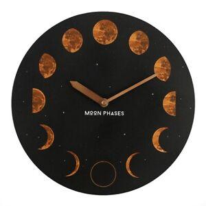 Moon Phases Wall Clock Lunar Trend Gothic Moon Star Wall Clock