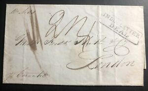 1837 India Letter Deal Cover Stampless Cover To London England