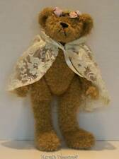 Ty Attic Treasures Coll. 1993 Eve Light Brn Girl Bear w/Lace Cape Poseable Euc